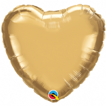 "Gold Chrome Foil Balloon (18"" Heart) 1pc"